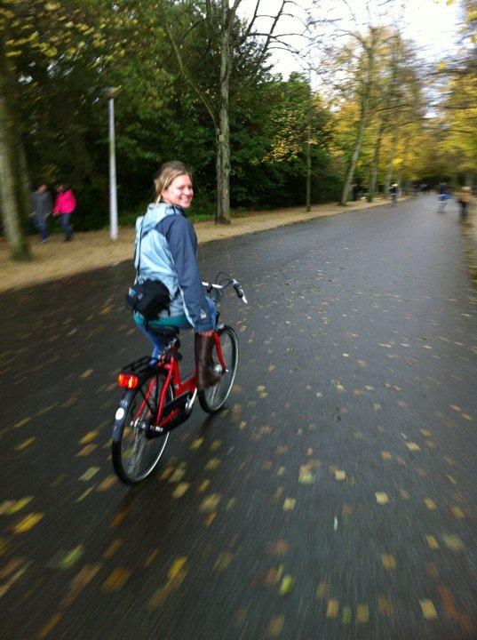 Kim biking