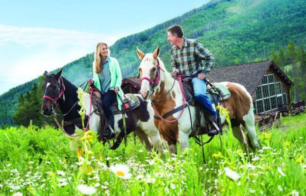 Arriving at Beano's Cabin on Beaver Creek, Colorado by horseback | Beano's Cabin | EAT Magazine Summer 2015