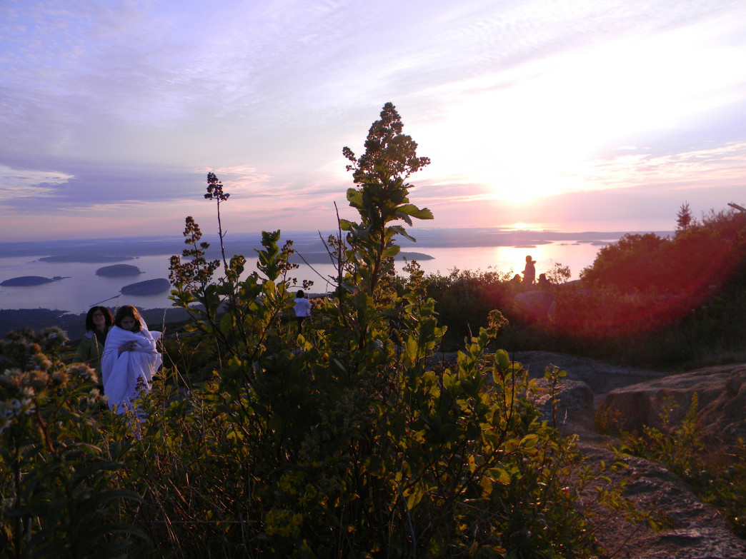 Sunrise at Cadillac Mountain.