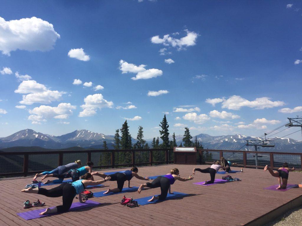 Mountaintop Yoga at Keystone