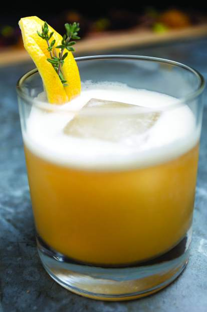 Deliciously sweet and refreshing, It's Bourbon Thyme cocktail.