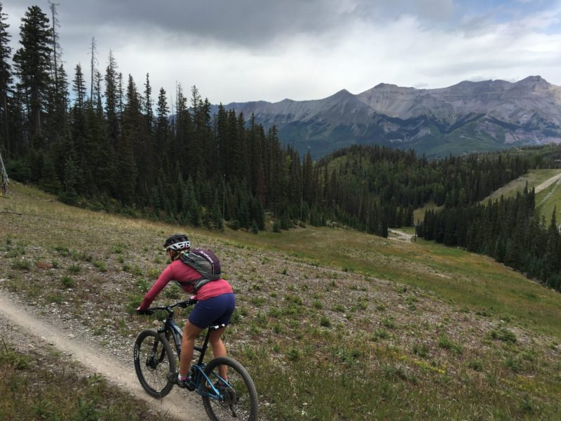 PROSPECT TRAIL IN TELLURIDE. PHOTO BY BOBBY LHEUREUX