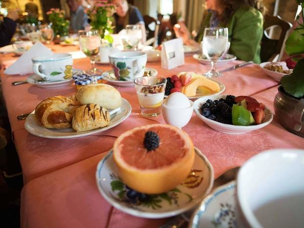 Healthy and lighter options, such as fresh fruit and gluten-free items, are available for breakfast on Ludwig's Terrace at the Sonnenalp.